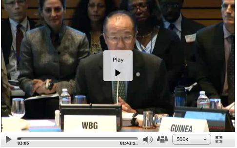 World Bank Crisis Meeting on Ebola