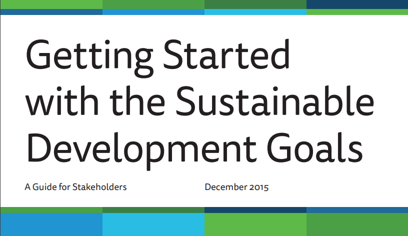 "Top 5 Takeaways from the SDSN Guidebook ""Getting Started With The SDGs"""